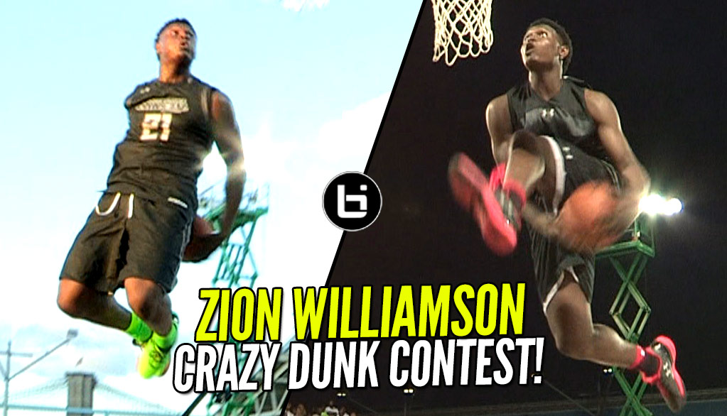 Can Zion Williamson Win The NBA Dunk Contest As a 16 Year Old? UA Elite 24 Throwback!