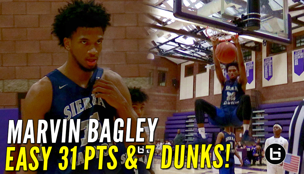 Marvin Bagley Puts Up An Easy 31 Points Vs Cathedral!