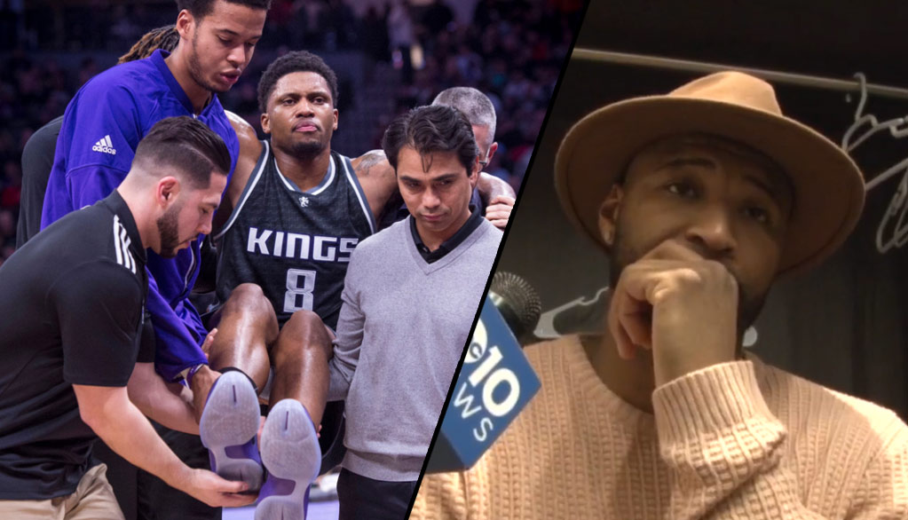 """Rudy Gay Suffers Season-Ending Injury, DeMarcus Cousins Says, """"We Have To Finish This Thing For Rudy"""""""