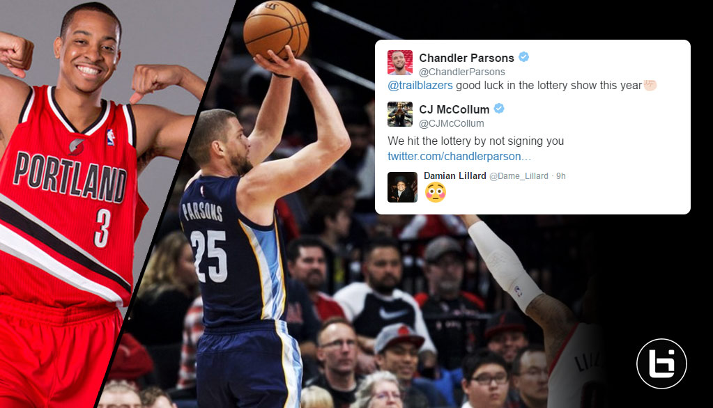 Best Reactions To CJ McCollum Roasting Chandler Parsons On Twitter After The Blazers Beat The Grizzlies