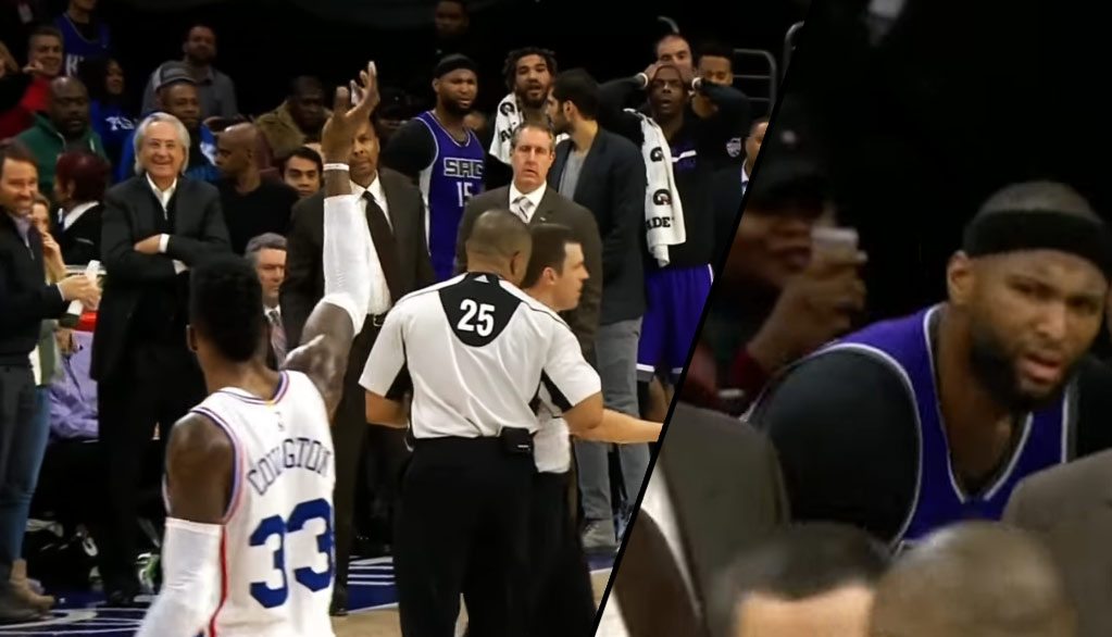 Robert Covington Waves Goodbye To DeMarcus Cousins After Boogie Fouls Out On BS Call