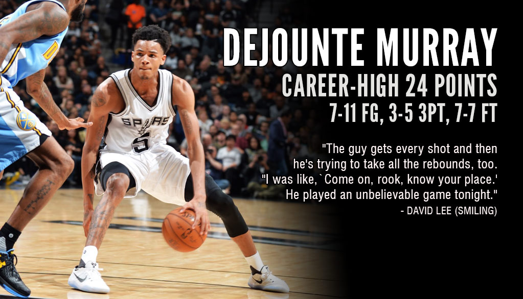 Rookie Dejounte Murray Scores Career-High 24, Even Tried To Steal Rebounds From Teammates