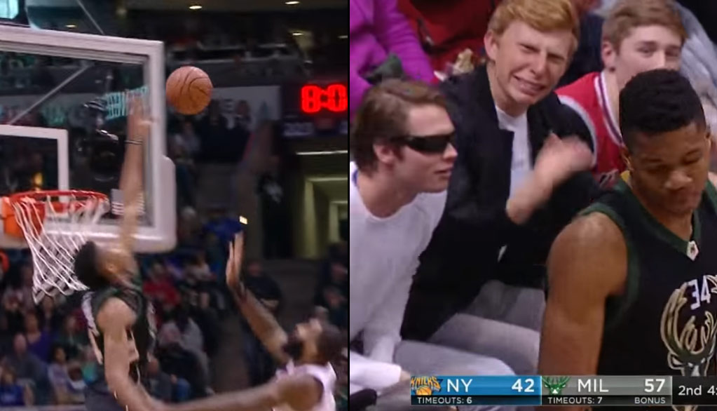 Nasty Block or Goaltend by Giannis Antetokounmpo? The Blind Guy Wants To Know.