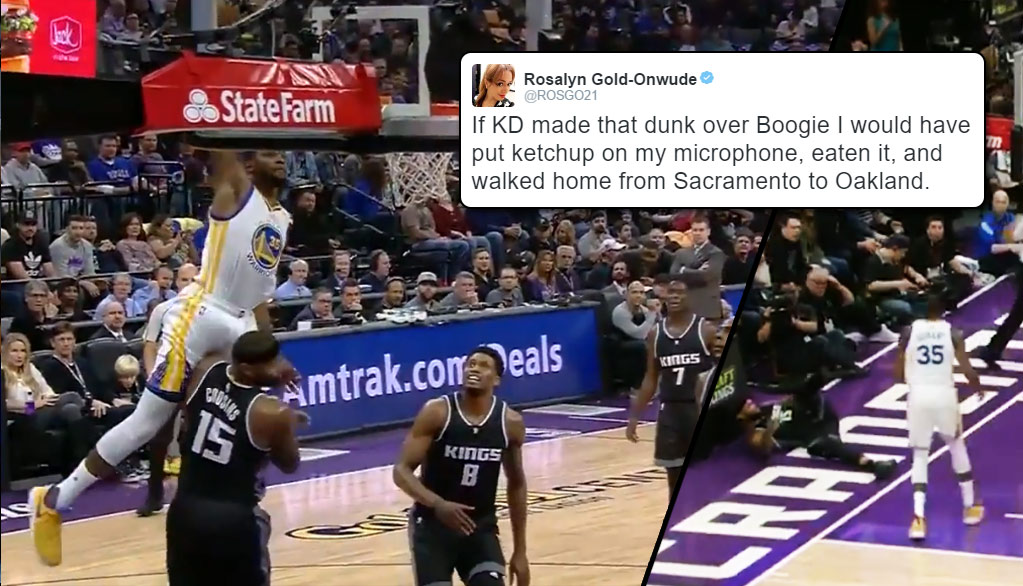 Kevin Durant Almost Murdered DeMarcus Cousins With This Dunk Attempt