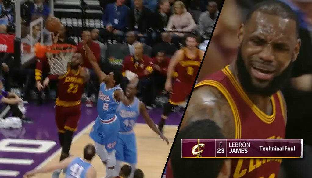 Frustrated LeBron James Given A Tech For Arguing A Clear Goaltending Call