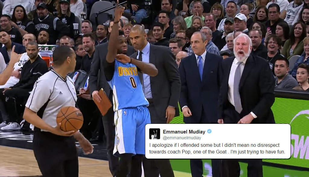 Emmanuel Mudiay Apologizes For Hilariously Trolling Gregg Popovich As He's Ejected For Yelling At A Ref