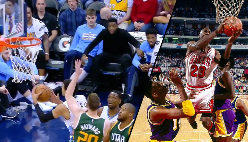Jamal Murray Re-Enacts Michael Jordan's Famous Switch Between Hands Layup