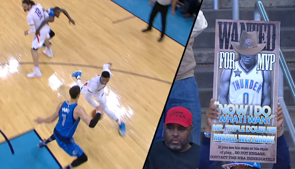 Russell Westbrook's Shammgod Move & 11 Points In The Final 2 Minutes Vs Mavs