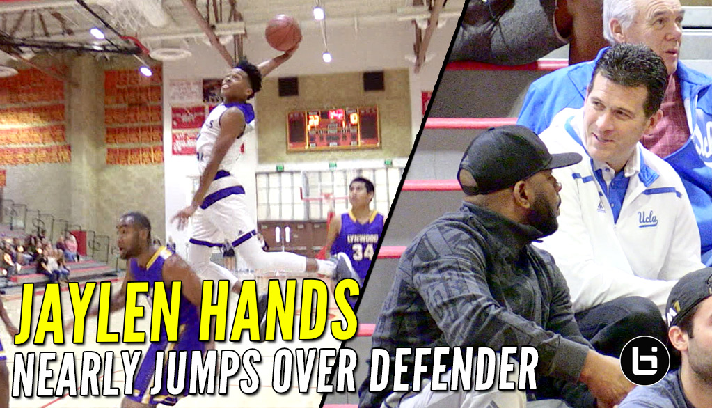 Jaylen Hands Nearly Jumps Over Defender After UCLA's Steve Alford Shows Up!!