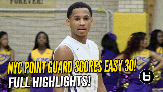 NYC PG Markquis Nowell Scores Easy 30! Full Bishop Loughlin Highlights!