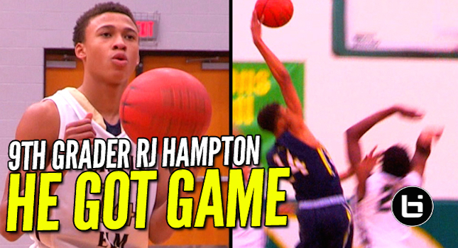 9th Grader RJ Hampton Has Serious Game! See Why College Coaches Want Him On Their Team!