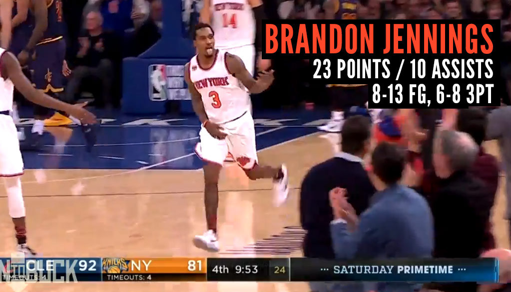 Brandon Jennings Was Feeling It & Himself Vs The Cavs