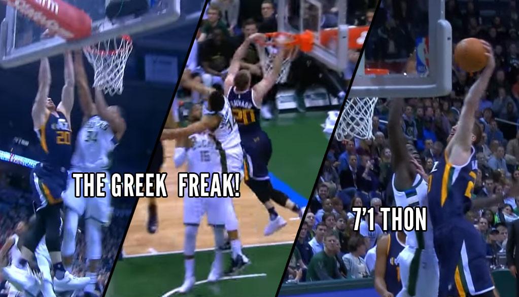 Gordon Hayward Dunks On The Greek Freak (Twice) and Thon Maker