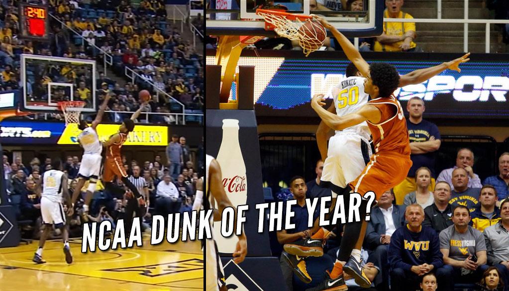 Texas Freshman Jarrett Allen With The Dunk Of The Year Nominee vs West Virginia