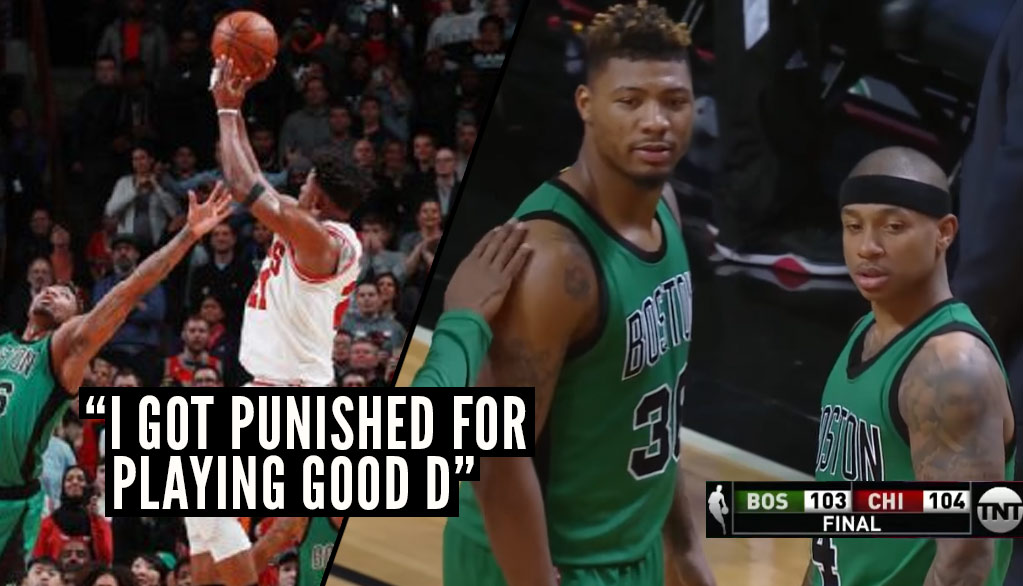 Worst Call Of The Year? Refs Bail Out The Bulls With This Marcus Smart Foul On Jimmy Butler