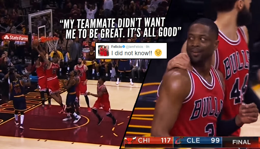 Dwyane Wade Hilariously Stares At Teammate For Preventing His Triple-Double