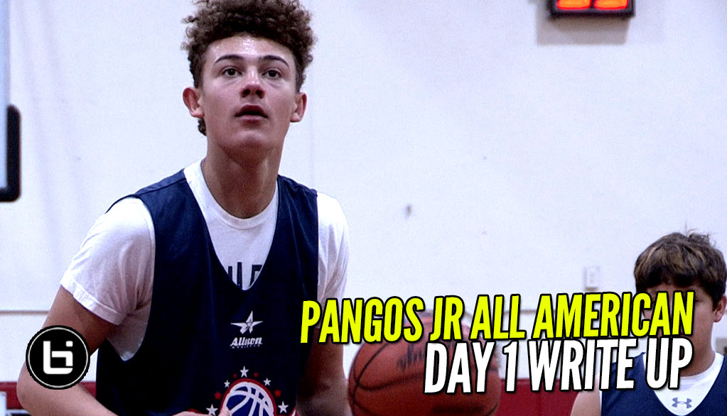 Pape is The NAME at Pangos Jr. A-A Camp!