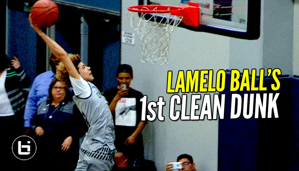 LaMelo Ball Dunks It in Warmups! First Legit Dunk!
