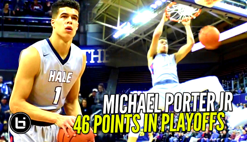 Michael Porter Jr 46 Points In 1st Playoff Game!! Final Score Was 72-59!!