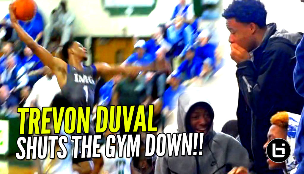 Trevon Duval SHUTS GYM DOWN vs Kyrie Irving's Old High School! IMG vs St Patrick FULL Highlights!