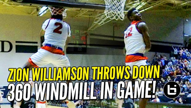 Zion Williamson Channels His Inner Vince Carter with the 360 Windmill IN GAME!!