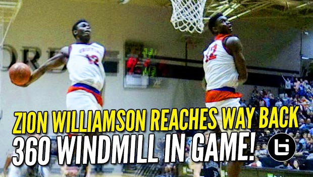 Zion Williamson 360 Windmill & Chandler Lindsey Reverse Windmill in Conference BLOWOUT! Raw Highlights!