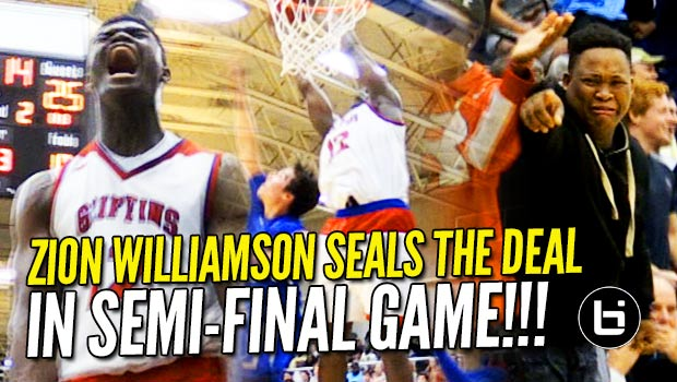 Zion Williamson Delivers in the Clutch! State Championship Bound 36/13 Raw Highlights!