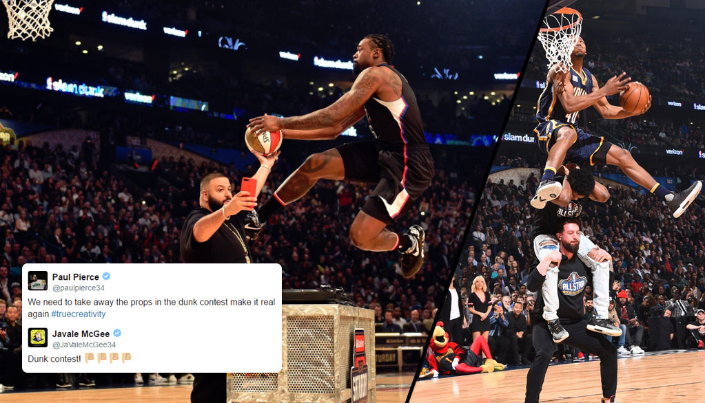 NBA Players React To The Disappointing Unappreciated 2017 Dunk Contest