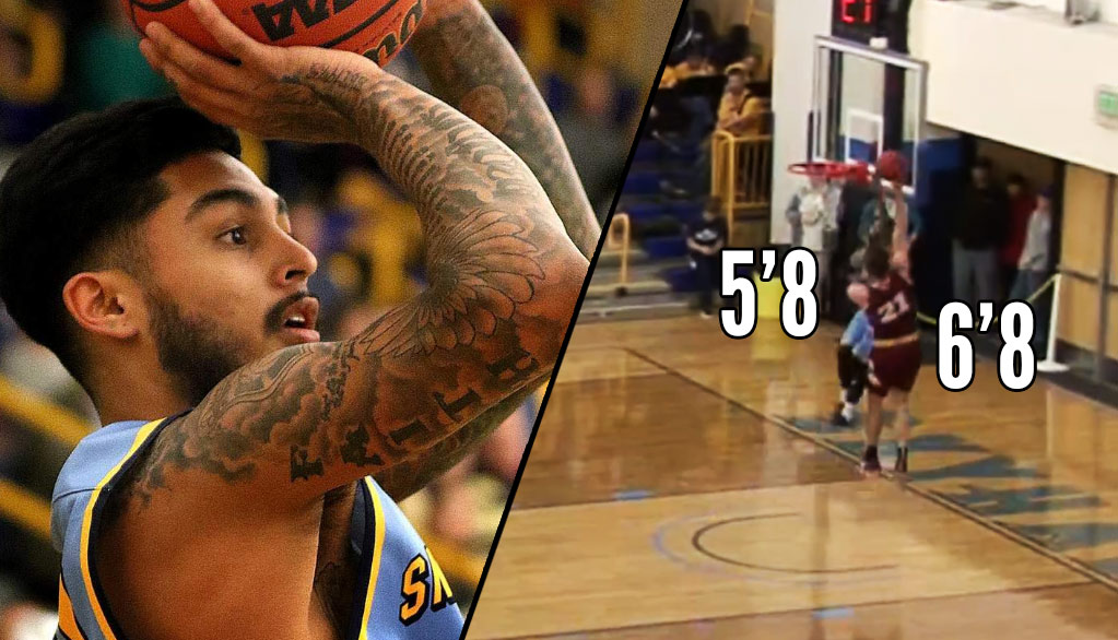 5'8 Baller From Fort Lewis College Rejects Dunk By 6'8 Forward!