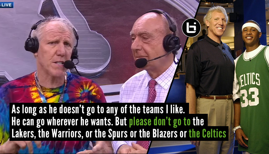Bill Walton Roasted Carmelo Anthony + 4 Other Great Moments From The Walton/Dicky V Broadcast
