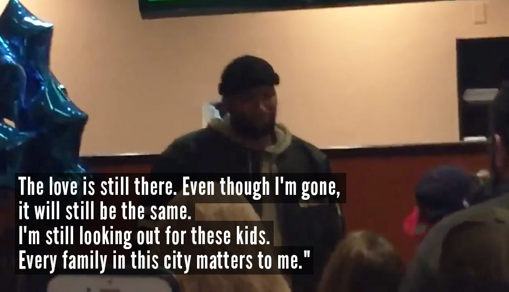 DeMarcus Cousins Gets Emotional During Goodbye Party Speech To Kings Fans