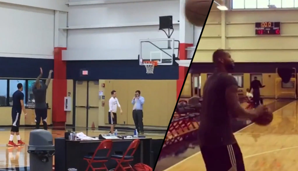 DeMarcus Cousins Can't Miss While Shooting With Anthony Davis In Practice