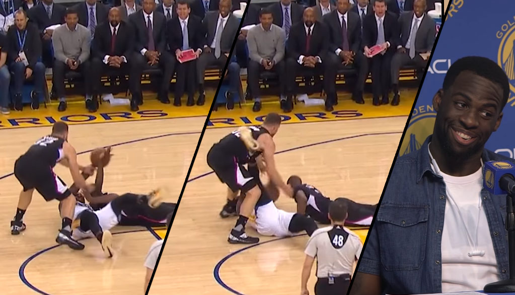 Draymond Green Kicks Blake Griffin, Later Yells At Steve Kerr