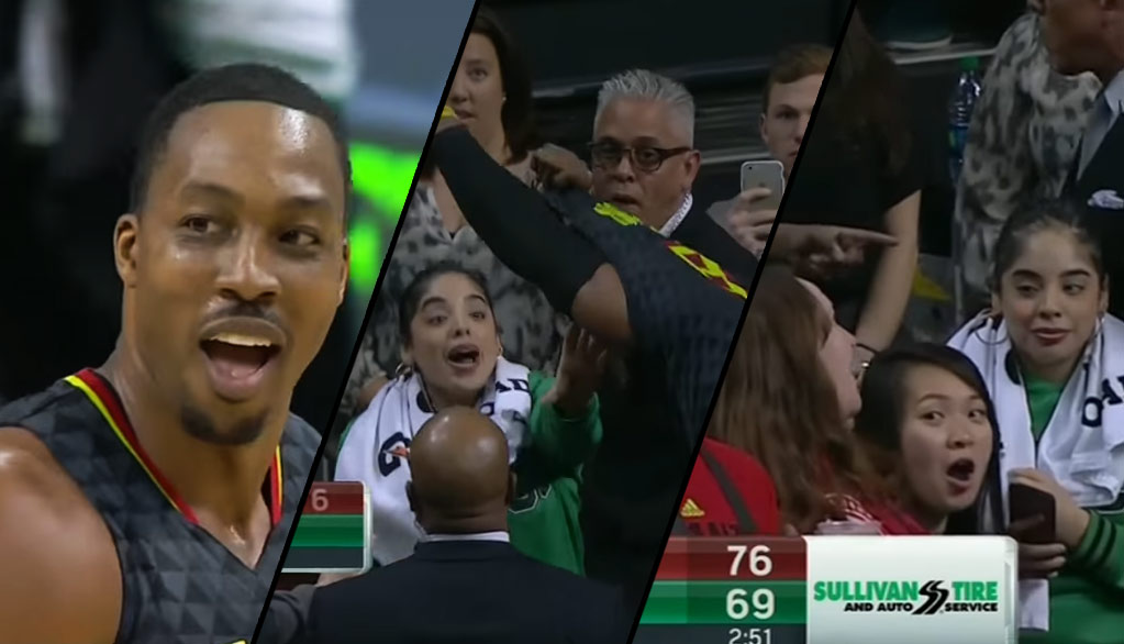 Dwight Howard Fakes Giving Celtics Fan His Jersey After Unfair Ejection