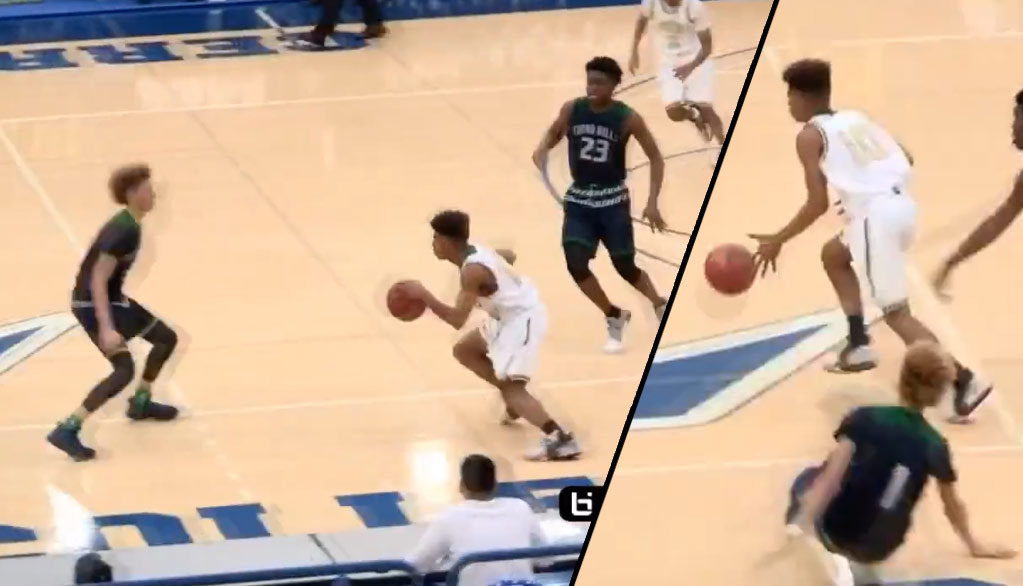 LaMelo Ball Gets Dropped Or Did He Fall On His Own?