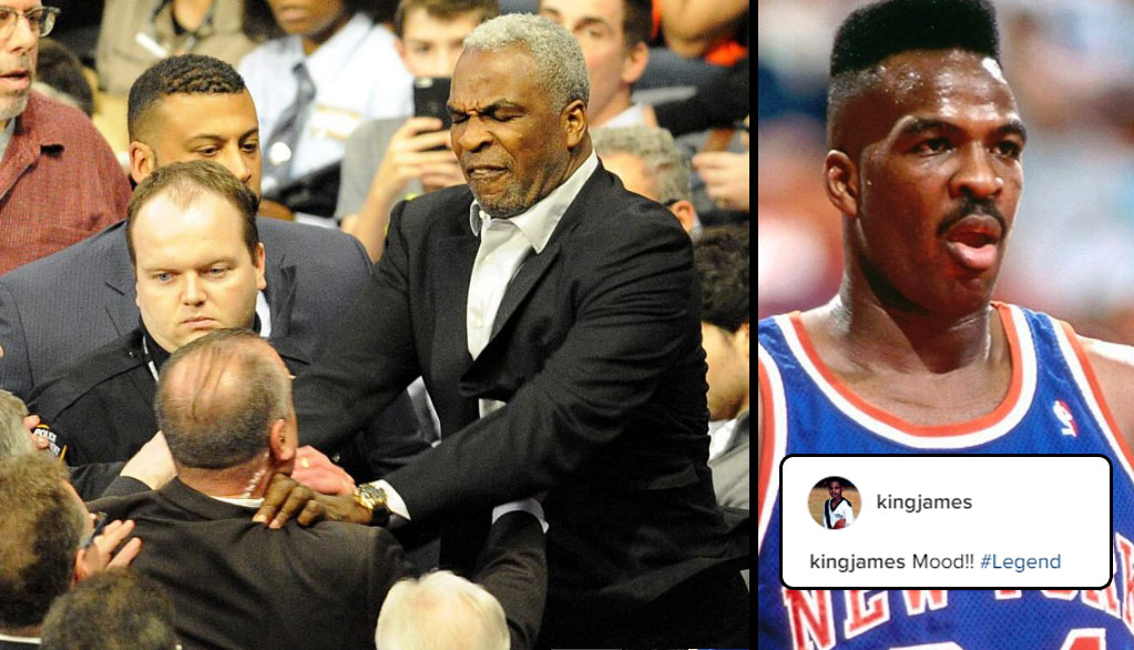 LeBron Calls Charles Oakley A Legend After The Former Knick's MSG Scuffle & Arrest