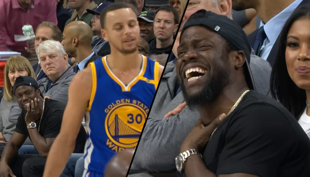 Kevin Hart Teases Steph Curry After One Of His 11 Missed 3-Point Attempts (Ties NBA Record)
