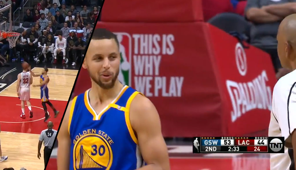 Steph Curry Gets A Tech For Swatting Blake Griffin's Dribble After The Whistle?!
