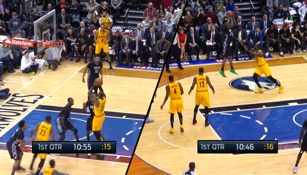 LeBron & Andrew Wiggins Exchange Airballs Against Each Other
