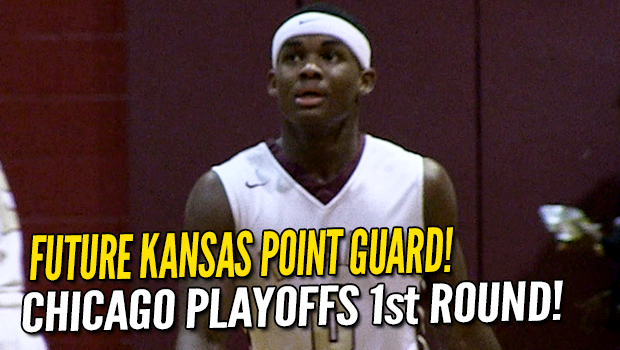 Kansas commit Markese Jacobs leads Chicago Uplift in City Playoffs 1st Rd!