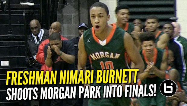 Freshman Nimari Burnett Shoots Chicago Morgan Park into City title game! Full Highlights!
