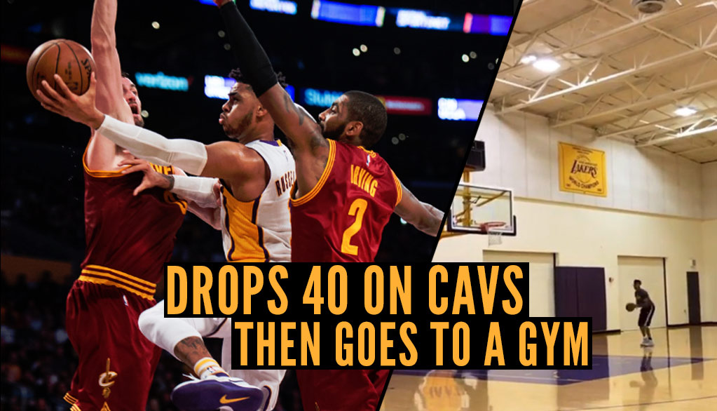 D'Angelo Russell Went To A Gym After Scoring Career-High 40 In Loss To The Cavs