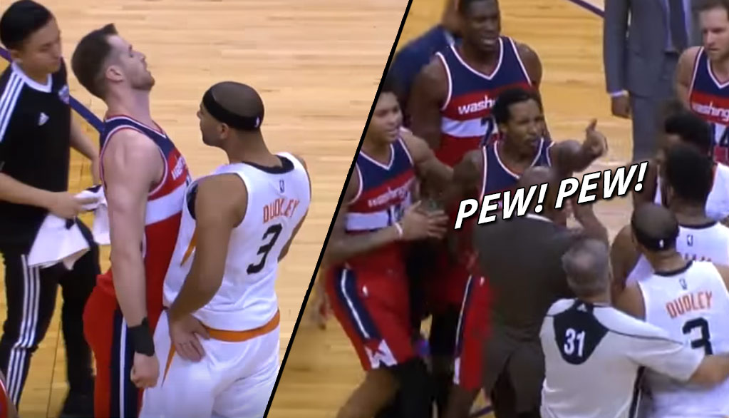 Brandon Jennings Ejected For Pulling An Imaginary Gun On Jared Dudley