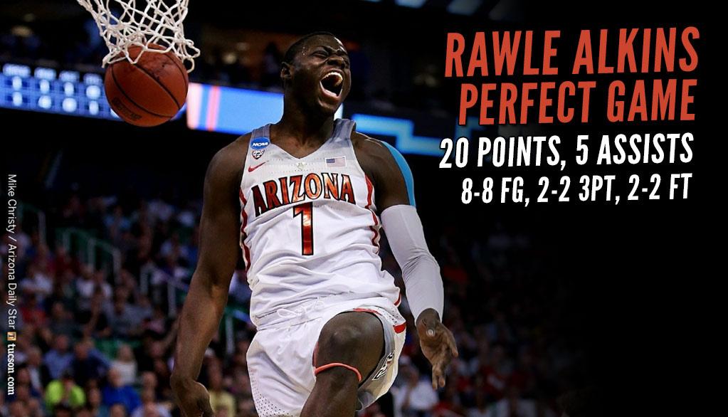 Arizona's Rawle Alkins Had A Perfect Game Against North Dakota!