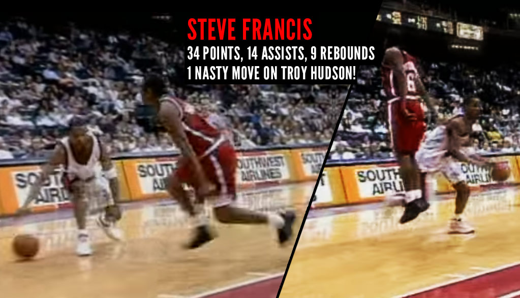 When Steve Francis Almost Ended Troy Hudson's Career While Having A Career Night Of His Own