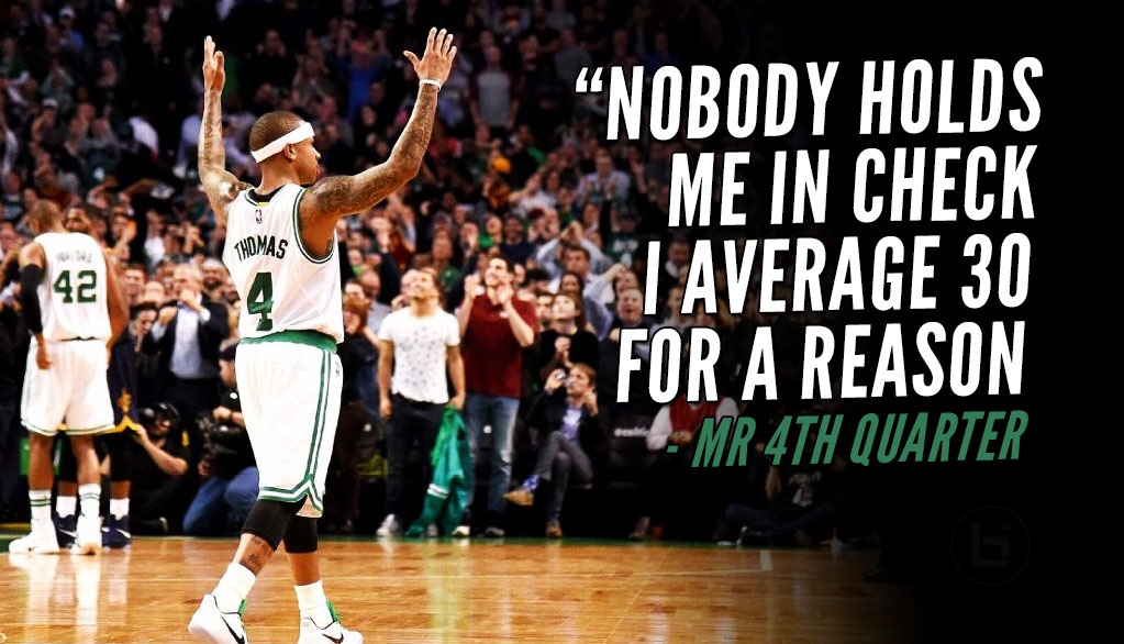 Isaiah Thomas After Beating Kyrie And The Cavs, 'Nobody Holds Me In Check'