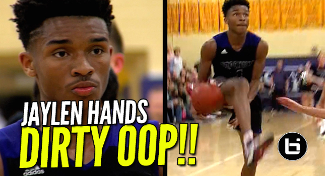 Jaylen Hands with the Filthy Between the Legs Oop! Full Highlights