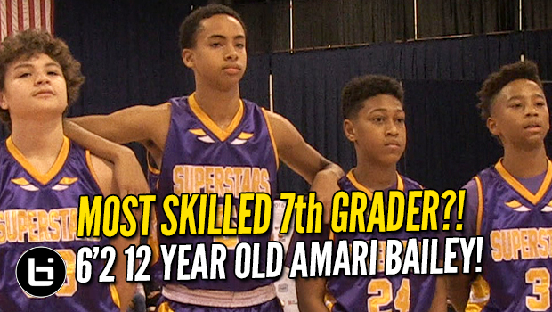 Most SKILLED 7th Grader?! 6'2 12 Year Old Amari Bailey LIGHTS UP Chicago!