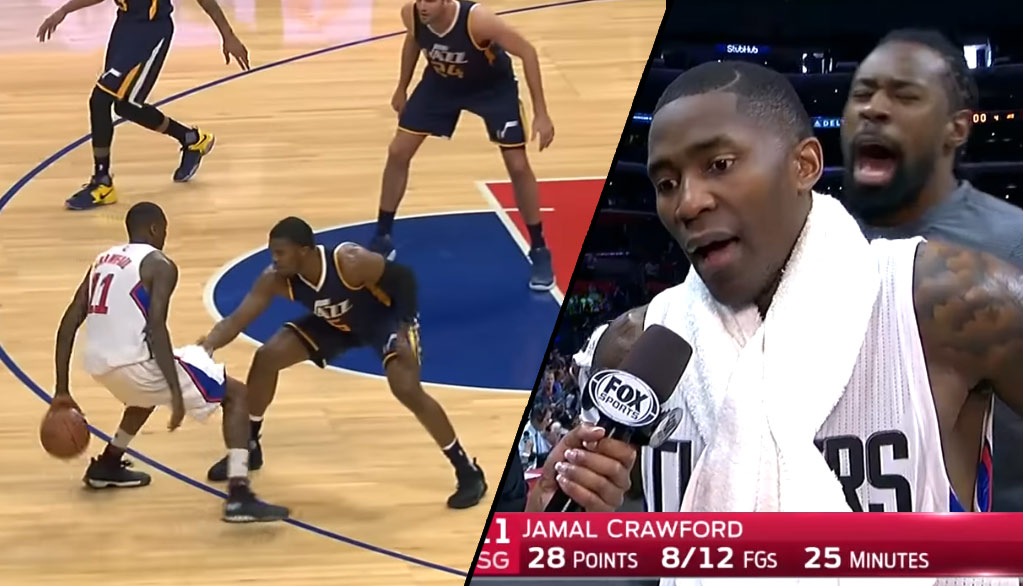 Jamal Crawford Puts On Dribbling Exhibition, Scores 17 of 28 Points in 4th Quarter vs Jazz
