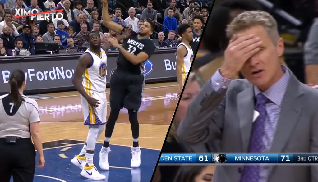 Draymond Green Gets A Tech For Touching Karl Anthony-Towns After A Foul